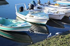 Łodzie rybackie w Lisbon Zdjęcia Royalty Free