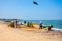 Łodzie rybackie w Negombo Fotografia Stock
