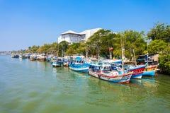 Łodzie rybackie w Negombo Obraz Royalty Free