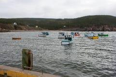 Łodzie Rybackie w nowa Scotia Fotografia Royalty Free