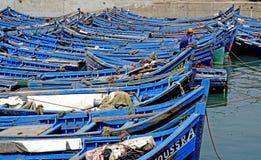 Łodzie rybackie w porcie Essaouira Fotografia Royalty Free