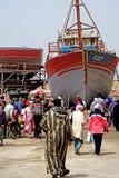 Łodzie rybackie w porcie Essaouira Obrazy Royalty Free