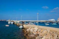 Łodzie rybackie w porcie Sagres, Portugalia Zdjęcia Stock