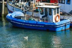 Łodzie rybackie w porcie Warnemuende, Niemcy Obrazy Royalty Free