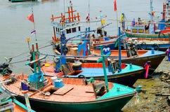 Łodzie rybackie w Tajlandia obraz royalty free