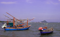 Łodzie rybackie w Tajlandia Zdjęcie Stock