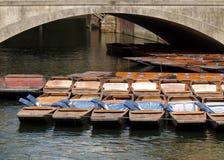 łodzie rzeczne Obraz Royalty Free