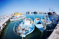 łodzie target2130_1_ port Obrazy Royalty Free