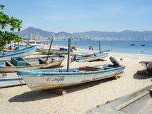 Łodzie w Acapulco Obraz Stock
