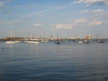 Łodzie w Boston schronieniu, Boston, Massachusetts, usa Fotografia Stock