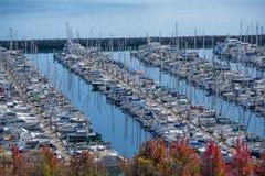 Łodzie w marina Fotografia Stock