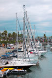 Łodzie w marina obrazy royalty free