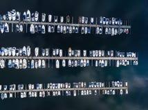 Łodzie w marina, odgórny widok Obraz Stock