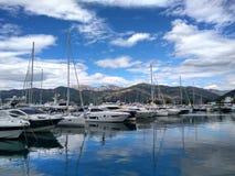 Łodzie w Montenegro Tivat obraz royalty free