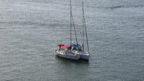 Łodzie w morzu Zdjęcie Royalty Free