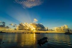 Łodzie w morzu karaibskim Zdjęcie Royalty Free