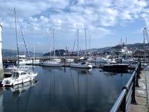 Łodzie w porcie Vigo, Galicia Obrazy Stock
