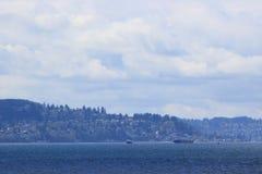 Łodzie w Puget Sound Obraz Royalty Free