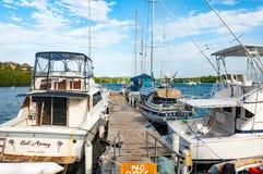 łodzie w republice dominikańskiej Fotografia Stock