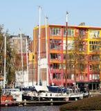 Łodzie w schronieniu Groningen Obraz Royalty Free