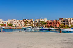Łodzie w Tala zatoce, Aqaba, Jordania Obrazy Stock