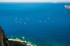 Łodzie w zatoce Cote d ` Azur Obraz Royalty Free