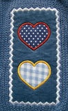 Odzieży aplikacja - serca Zdjęcie Royalty Free