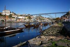 ?odzie z Porto winem w Porto, Portugalia Douro rzeka obraz stock
