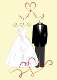 Odziewać dla ślubów Zdjęcie Royalty Free