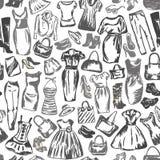 Odziewać dla kobiet jest bezszwowym wzorem zdjęcia royalty free