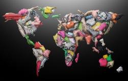 Odziewać w postaci światowej mapy royalty ilustracja