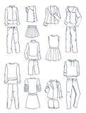 Odziewa dla nastoletnich dziewczyn Zdjęcie Stock