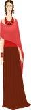 odziewa dziewczyna etnicznego styl ilustracja wektor