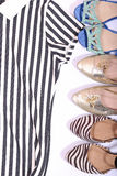 Odziewa i butów zegarki z białym tłem Obraz Stock