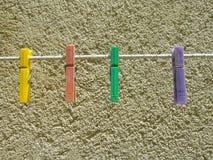 odziewa kolorowych czopy Obraz Stock