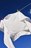 odziewa kreskowego koszulowego biel Zdjęcia Royalty Free