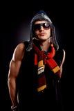 odziewa mężczyzna okularów przeciwsłoneczne zima Obrazy Royalty Free