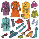 odziewa moda set Kobiety odzież ilustracji