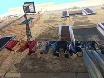Odziewa na płuczkowej linii w Włochy Sardinia Fotografia Royalty Free