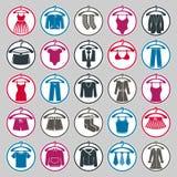 Odziewa na wieszak ikony secie, moda ilustracji