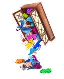 Odziewa spadek z szafy Zdjęcie Stock
