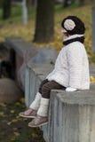 odziewa trochę ciepłej modnej dziewczyny Zdjęcie Stock
