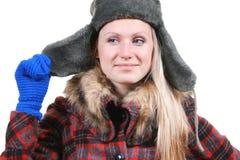 odziewa zima ubierającej kobiety Zdjęcia Stock