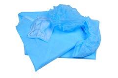 Odziewający dla szpitala - błękitny ochronny kostium, maskuje i kuje Obrazy Royalty Free