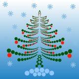 odznaczony świąteczne drzewko Zdjęcia Royalty Free