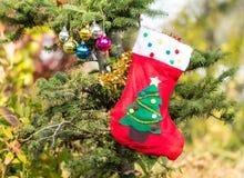odznaczony świąteczne drzewko Obrazy Royalty Free
