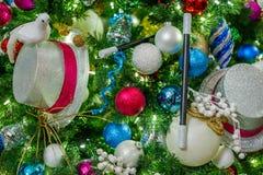 odznaczony świąteczne drzewko Zdjęcia Stock