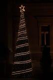 odznaczony świąteczne drzewko Fotografia Royalty Free