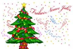 odznaczony świąteczne drzewko Obraz Royalty Free