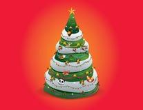 odznaczony ilustracyjny świąteczne drzewko royalty ilustracja